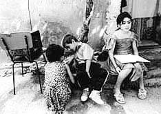 Refugee girl in Azerbaijan Lamiya